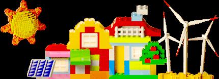Ciudad sostenible de lego